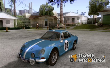 Renault Alpine A110 1600S Rally for GTA San Andreas