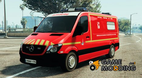 Mercedes Sprinter VSAV Sapeurs-Pompiers de Paris for GTA 5