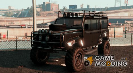 Land Rover 110 Outer Roll Cage для GTA 5