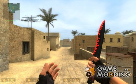 Red&Black Knife-Recolor for Counter-Strike Source