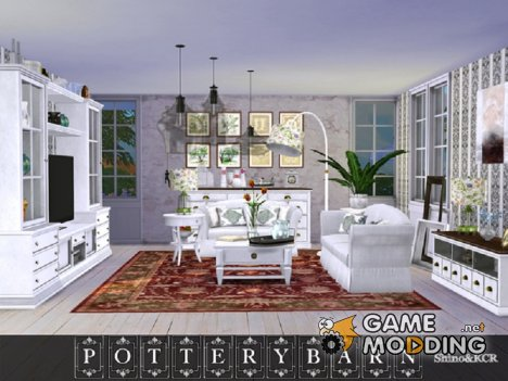 Living Pottery Barn for Sims 4
