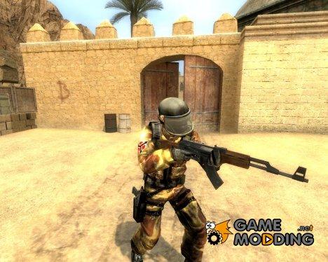 Desert Camo Helghast Skin For Gign for Counter-Strike Source