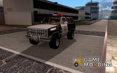 Chevrolet Blazer K5 Sheriff version 1986 для GTA San Andreas