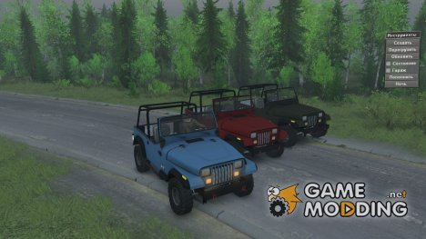 Jeep YJ 1991 for Spintires 2014