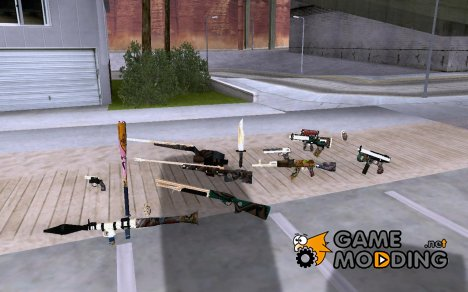 Graffiti GunPack для GTA San Andreas