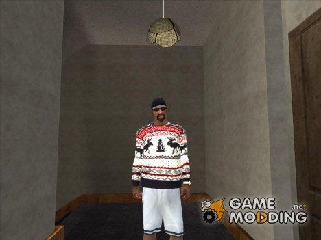 Зимний свитер с оленями для GTA San Andreas