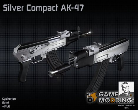 Silver Compact AK-47 for Counter-Strike 1.6
