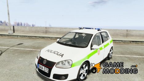Lithuanian Police Volkswagen Golf 5 GTI [ELS] for GTA 4