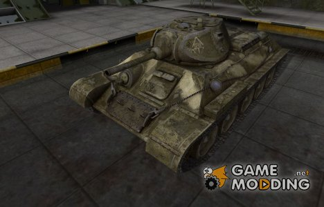 Исторический камуфляж T-34 for World of Tanks