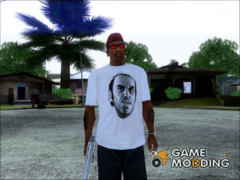Trevor T-Shirt White (GTA 5) для GTA San Andreas