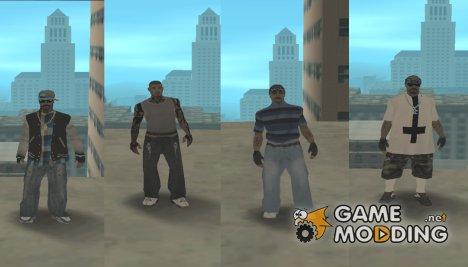 Пак скинов Varrios Los Aztecas by Shiro Mori for GTA San Andreas