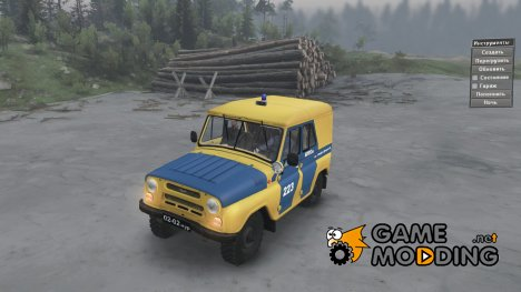 УАЗ 469Б милиция for Spintires 2014