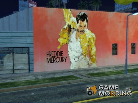 Freddie Mercury Art Wall for GTA San Andreas