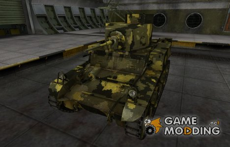 Камуфлированный скин для М3 Стюарт for World of Tanks
