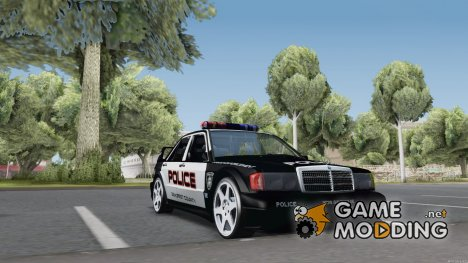 Mercedes-Benz 190E Evolution Police для GTA San Andreas