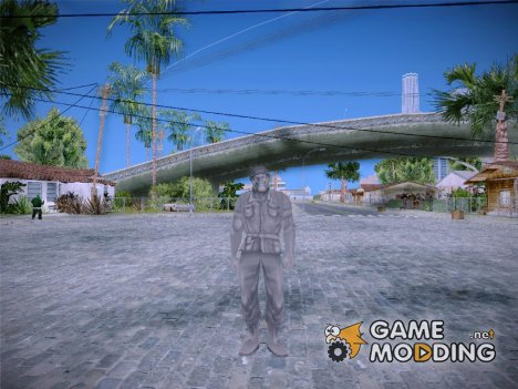 Grey Solider from Army Men Serges Heroes 2 для GTA San Andreas