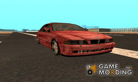 BMW 530d Red Black for GTA San Andreas