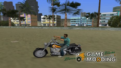 Harley Davidson FLSTF для GTA Vice City