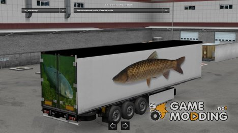 Fish Trailers Pack v 1.1 for Euro Truck Simulator 2