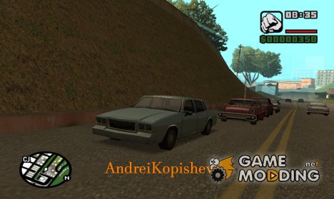 "Невидимость для транспорта ""Stealth"" for GTA San Andreas"