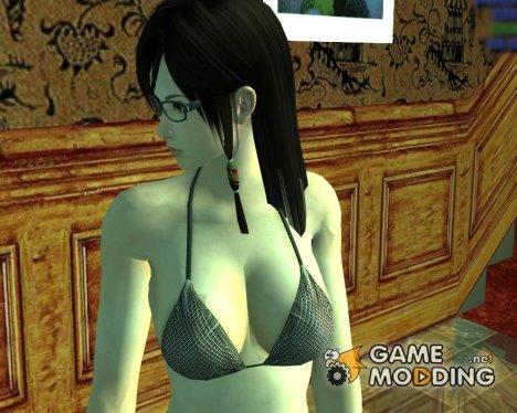 Kokoro в очках и нижнем белье для GTA San Andreas