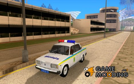 ВАЗ-2107 Украинская Милиция for GTA San Andreas