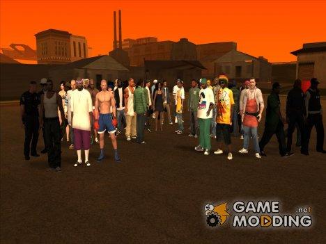 Пак скинов, оружия и одежды for GTA San Andreas