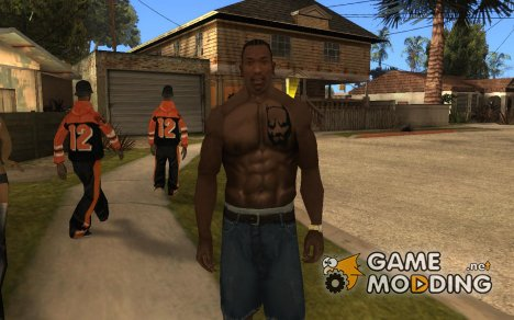 Pitbull Brusttattoo для GTA San Andreas