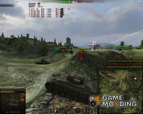 Подробный счетчик нанесенного урона без использования XVM для World of Tanks