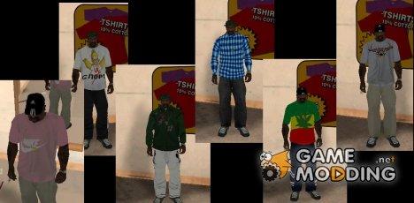 Пак одежды для GTA San Andreas
