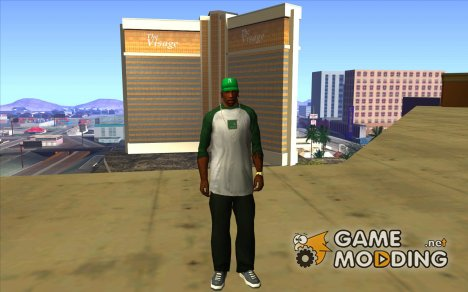 Кепка newyorkyankiys зелёная for GTA San Andreas