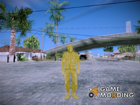 Yellow Solider from Army Men Serges Heroes 2 for GTA San Andreas