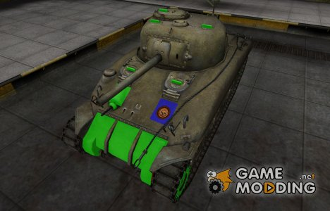 Качественный скин для M4 Sherman for World of Tanks