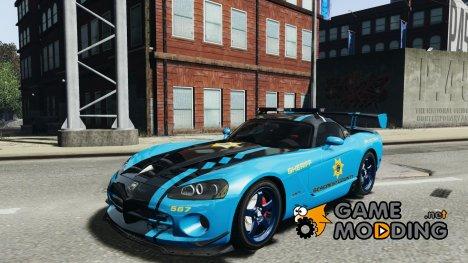 Dodge Viper SRT-10 ACR 2009 Police ELS для GTA 4