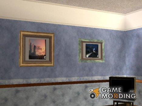 Новые картины в доме Cj для GTA San Andreas