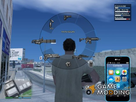 GTA Online HUD v3 2016 (Low PC) для GTA San Andreas