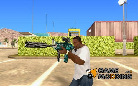 Blue M4 for GTA San Andreas