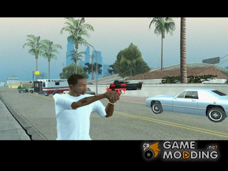 Desert Eagle black and red для GTA San Andreas