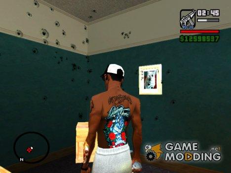 Новое цветное тату Parkway Drive for GTA San Andreas
