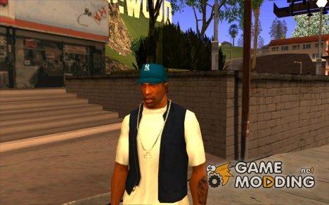 Кепка newyorkyankiys синяя для GTA San Andreas