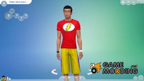 "Футболка ""Флэш"" for Sims 4"