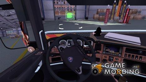 Перемещение камеры в салоне for Euro Truck Simulator 2