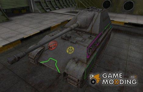 Контурные зоны пробития Jagdpanther II for World of Tanks