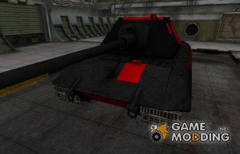 Черно-красные зоны пробития E-100 для World of Tanks