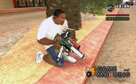 Замена стандартному tec9 for GTA San Andreas