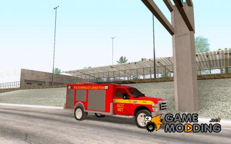 Ford F-350 Swedish Fire Truck для GTA San Andreas