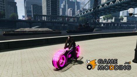 Мотоцикл из Трон (розовый неон) for GTA 4