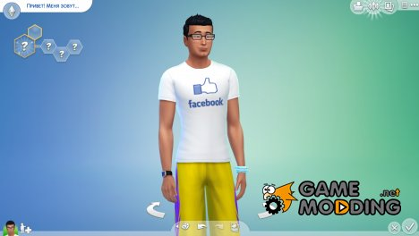 Футболки Social Media Male T-Shirt for Sims 4