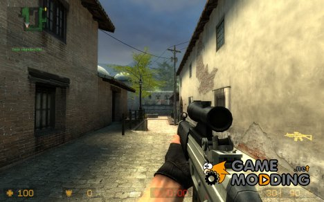 Default SG552 remake on WildBill's anims для Counter-Strike Source