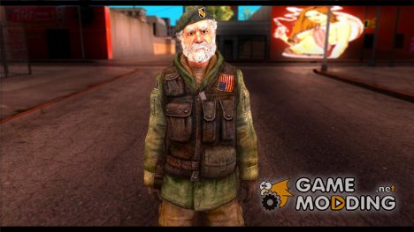 Bill from Left 4 Dead Beta для GTA San Andreas